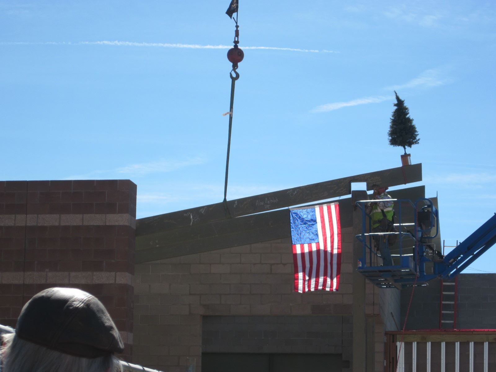 Public Works Building Construction with Signed Beam