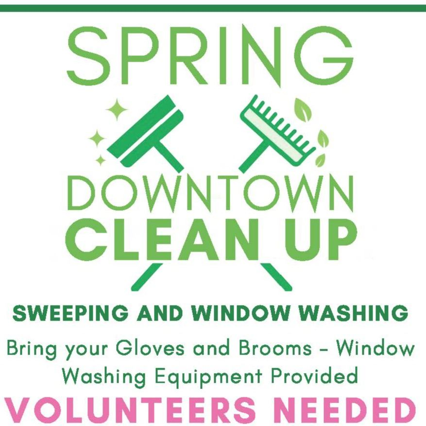 2021 Downtown Clean up SPRING Flyer
